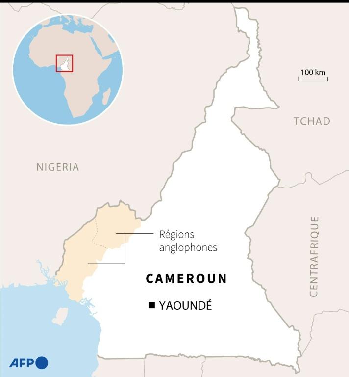 Carte du Cameroun localisant les régions anglophones
