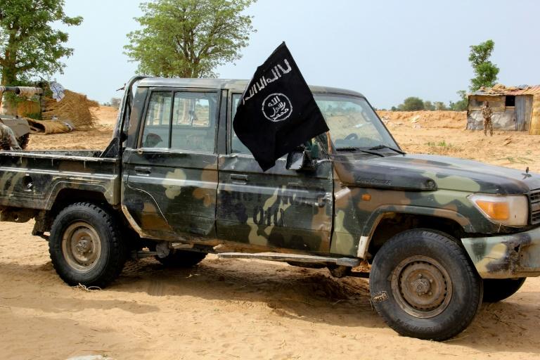 Un véhicule de l'Iswap après des combats avec l'armée nigériane, à Baga, le 3 août 2019