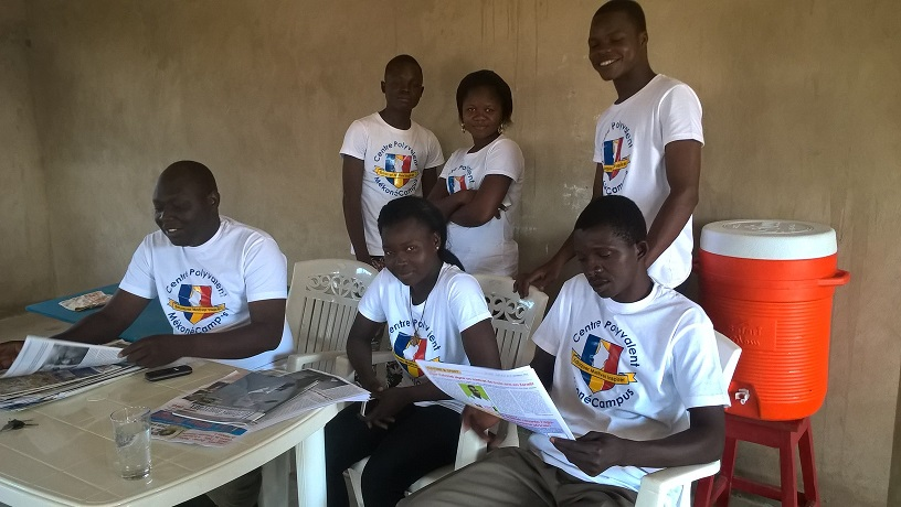 Young people at MekoneCampus building in Moundou (Chad)