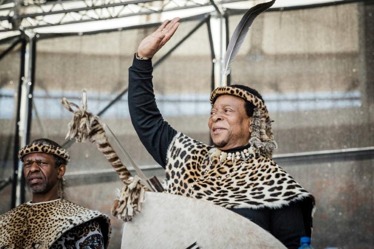 Le roi zulu, Goodwill Zwelithini, le 7 octobre 2018 à Durban, en Afrique du Sud