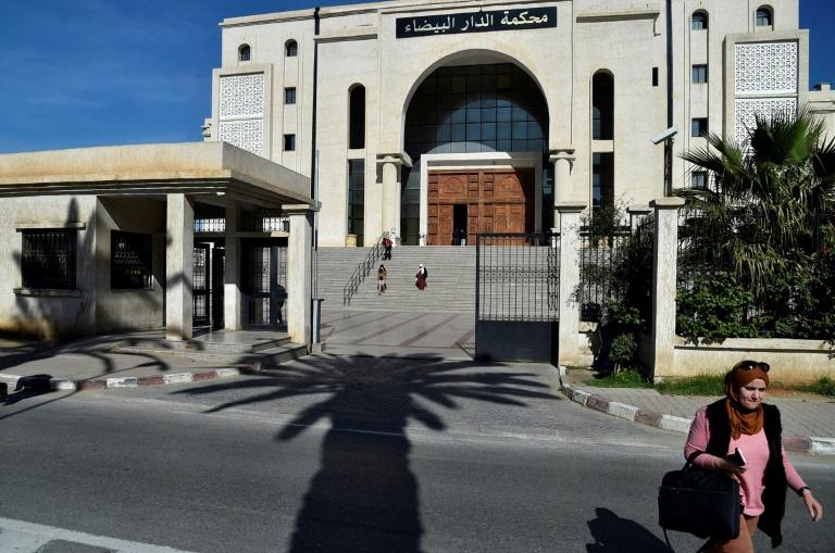 Le tribuanl de première instance de Bar El Beïda, dans la banlieue d'Alger, le 18 février 2021 où se déroule le procès des accusés de l'assassinat du guide de montagne français Hervé Gourdel en 2014