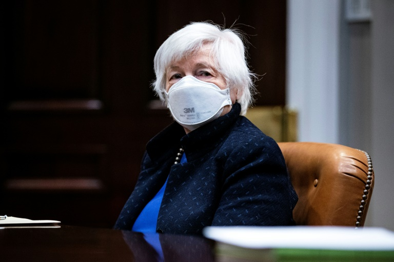 Treasury Secretary Janet Yellen listens during a March 5, 2021 meeting with President Joe Biden in the White House; he hasn't decided yet on imposing a wealth tax, she now says