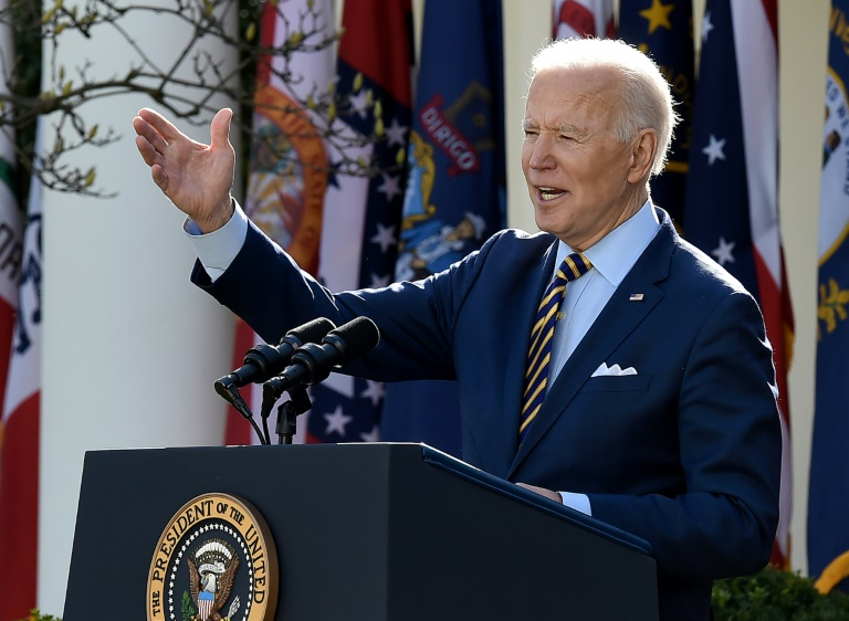 US President Joe Biden's name will not appear on the $1,400 stimulus checks going out to most Americans