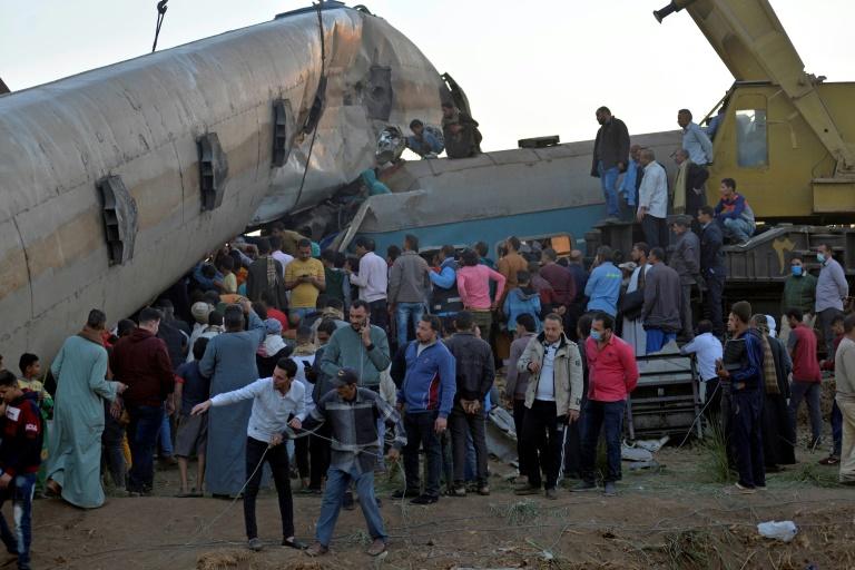 Une collision entre deux trains a fait au moins 18 morts et 200 blessés le 26 mars 2021 en Egypte