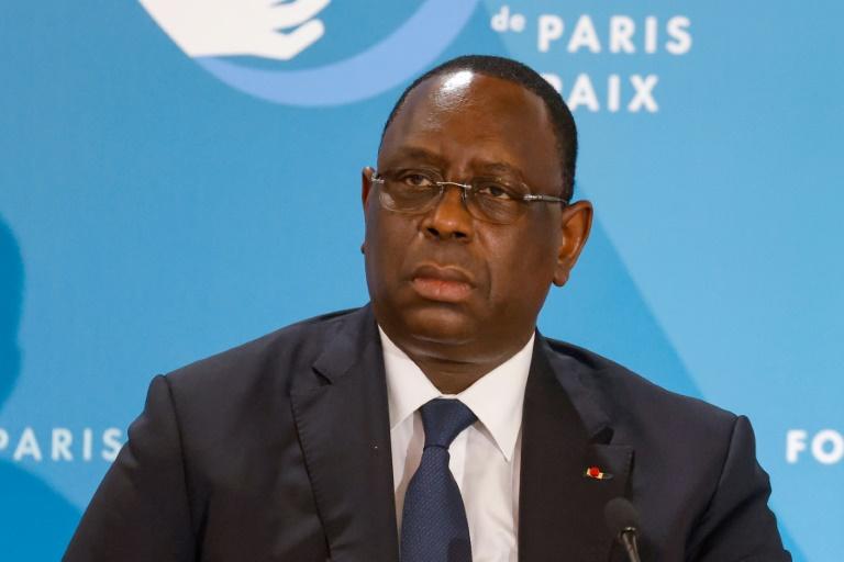 Le président sénégalais Macky Sall lors d'une conférence à Paris, le 12 novembre 2020.