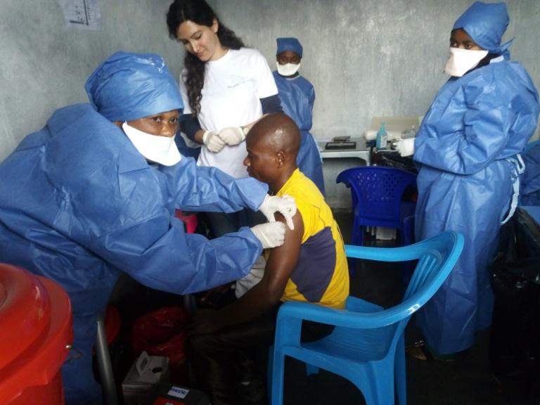 Une séance de vaccination contre l'ebola à Goma, le 14 novembre 2019