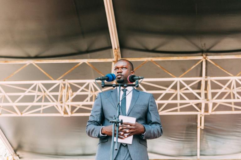 Ousmane Sonko, candidat à la présidentielle, en février 2019 à Dakar, au Sénégal