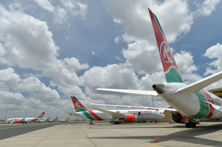 Covid casualty: Grounded Kenyan Airways planes at Nairobi airport last April