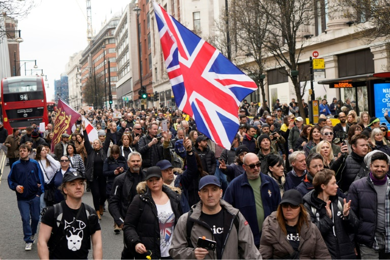 Anti-lockdown protesters marched in London