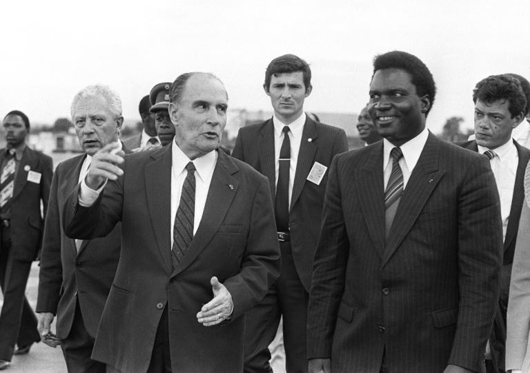 François Mitterrand et Juvenal Habyarimana à Kigali le 10 décembre 1984