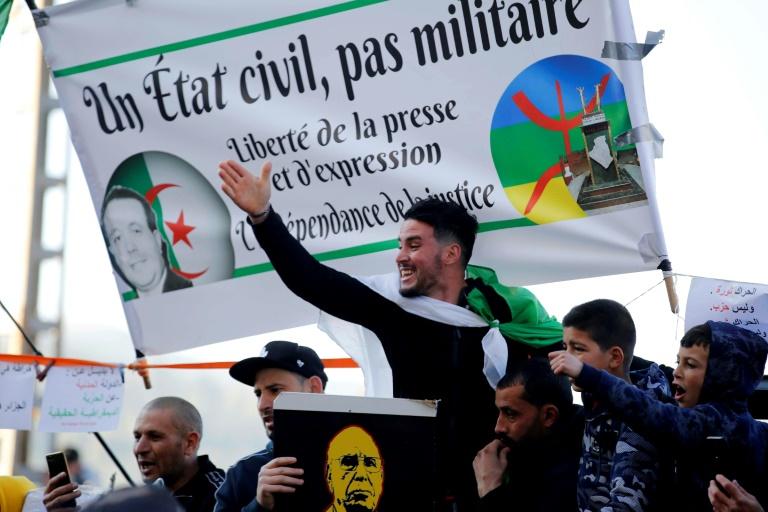 Des Algériens se rassemblent à Kherrata, une ville du nord du pays pour marquer le 2e anniversaire du Hirak le 16 février 2021